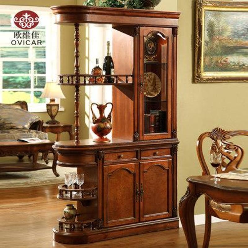 特价实木家具客厅酒柜热卖实门厅柜欧式美式隔厅柜酒柜秒杀现货