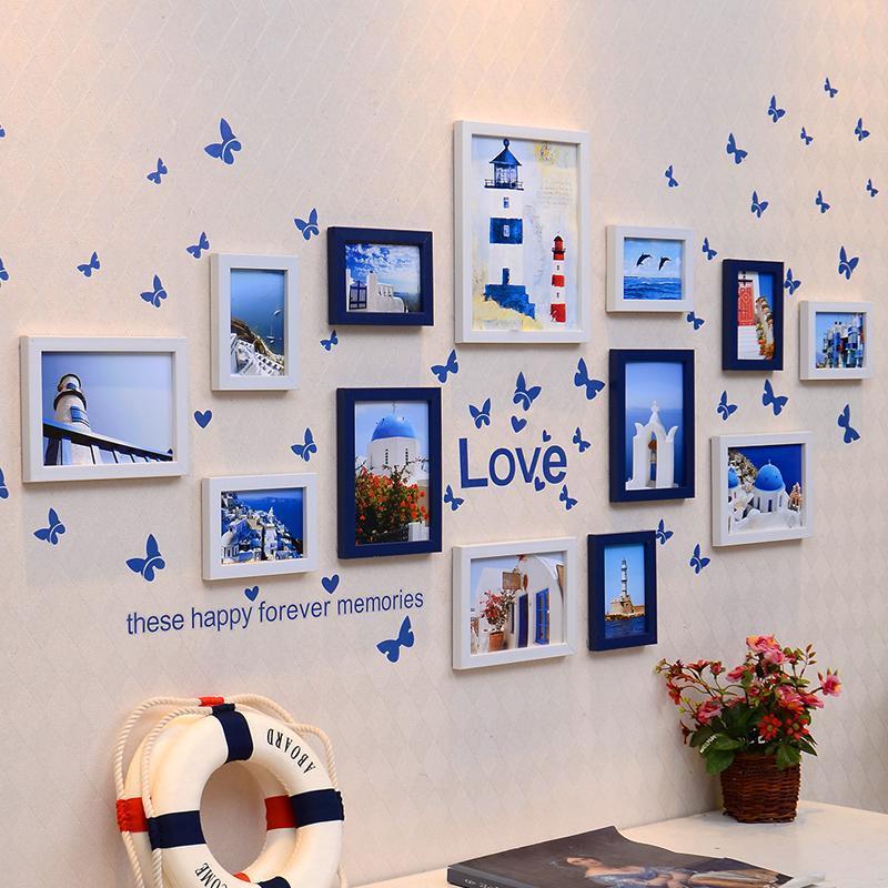 13框 客厅照片墙 相框墙创意组合 欧式相框挂墙相片墙包邮mx