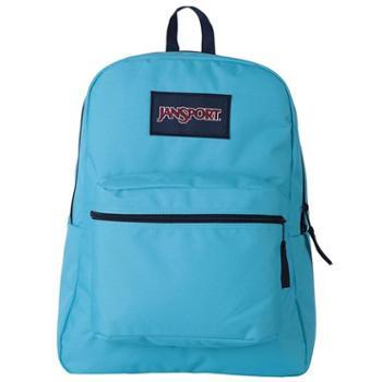 【12期免息】JANSPORT杰斯伯男女款双肩背包校园休闲包书包T08W0GJ纯蓝