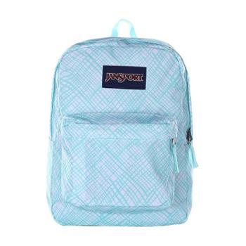 【12期免息】JANSPORT杰斯伯男女款双肩背包校园休闲包书包T5010JJ格子藍精靈