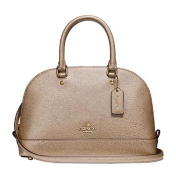 蔻驰(COACH)女包 女士贝壳包 单肩包 斜挎包 手提包 F22315 裸金色(IMLH4)