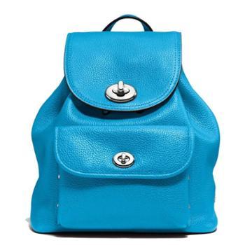 蔻驰(COACH)女包 女士双肩包 休闲旅行背包 F37581 亮蓝色(SV/AZ)