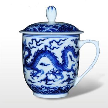 淘瓷缘★景德镇名家金宏霞手绘瓷器茶具办公茶杯水杯【龙凤】盖杯