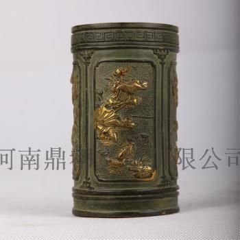 河南鼎都 安阳殷墟 青铜器 青铜笔筒