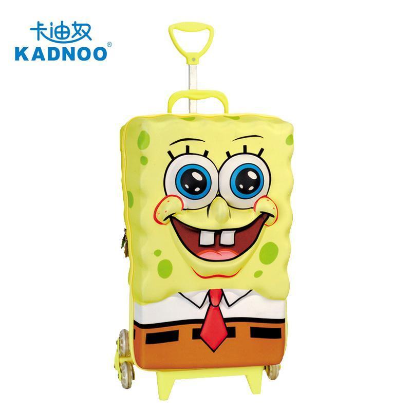 海绵宝宝儿童拉杆箱学生旅行必备登机箱 男女孩立体卡通行李箱