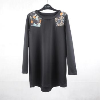 TAISOT天梭女装2015新款原创女装拼接个性时尚外套1113017