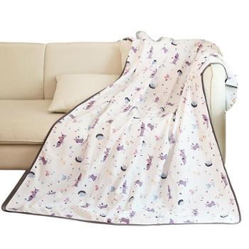 龙之涵纯棉纱布盖毯宝宝夏凉午睡毯儿童夏凉毯可做浴巾两用款90*120cm