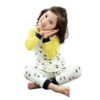 龙之涵儿童内衣套装婴儿宝宝秋衣秋裤秋冬薄款男女童护肚秋衣裤套装衣服