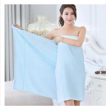 竹之锦(The Bamboo Kam) 生态竹纺竹纤维浴巾 70*140cm TY-8009 蓝色