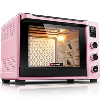 海氏(Hauswirt )电烤箱家用烘焙智能烤箱电子式一键操控C40粉色