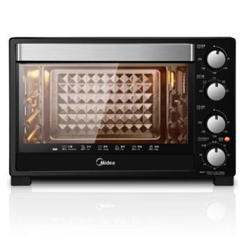 美的(Midea)T3-L323D 家用多功能电烤箱 32升 搪瓷易清洁内胆 旋转烧烤 上下管独立控温