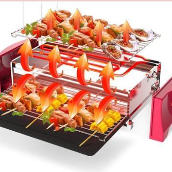 亨博(hengbo)电烧烤炉家用电烤炉无烟烤肉炉烤肉机不粘烤串机 SC-548A-1