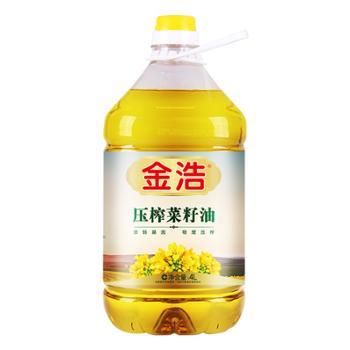 金浩非转基因压榨菜籽油4L纯菜籽油物理压榨