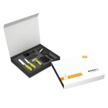 贵族锦上添花六件套水果刀菜刀刨刀研磨瓶钢刀磨刀器切片器NJS602