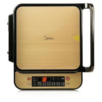 美的(Midea)微电脑触摸方型电饼铛煎烤机(电烤盘)JSN3030C
