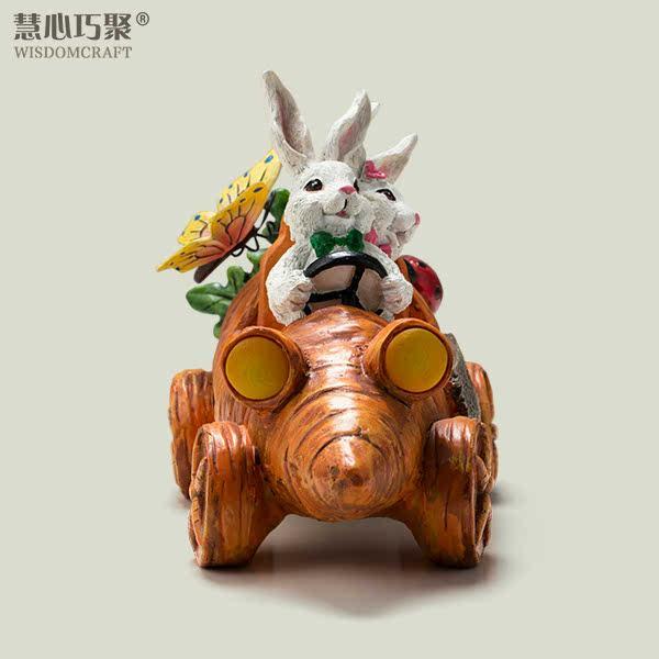 侧面卡通小兔简笔画