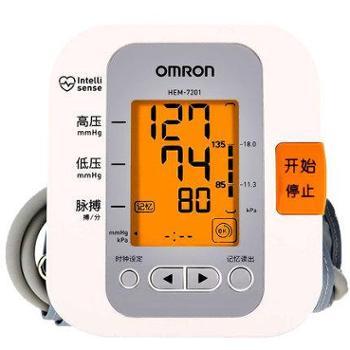 欧姆龙/OMRON家用上臂式测血压仪HEM-720160组记忆大屏幕带电池电源适配器