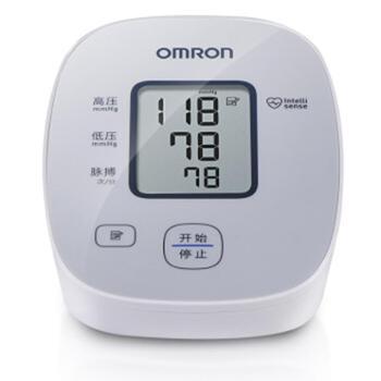 欧姆龙/OMRON家用上臂式电子血压计U10L智能加压高血压警示14次记忆值