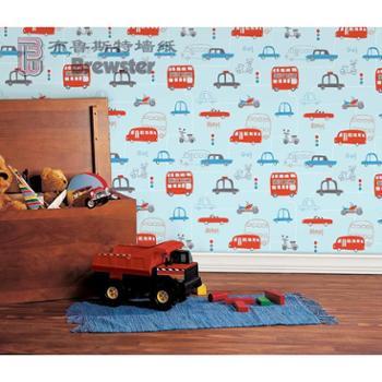 布鲁斯特Brewster进口墙纸壁纸儿童风格儿童房星梦奇缘DL30706、08
