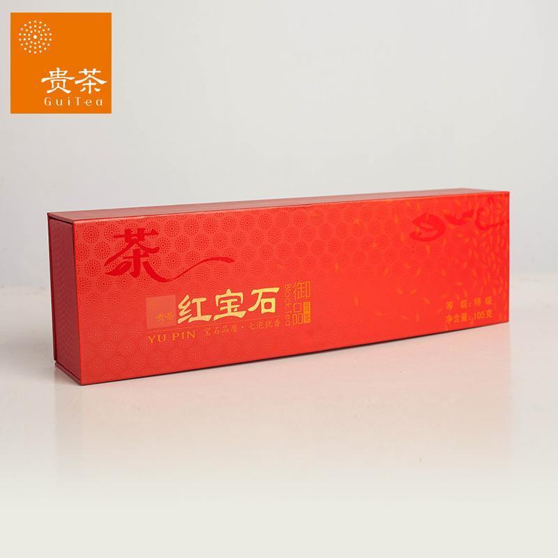 贵州贵茶 特级红宝石 红茶 茶叶烟条礼盒装105g 贵州十大名茶图片