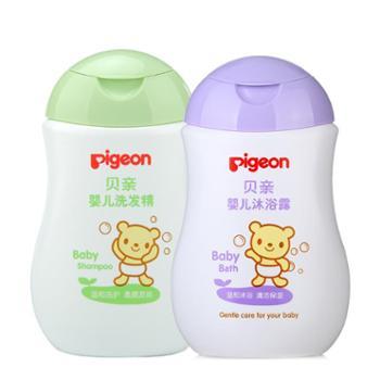 贝亲Pigeon婴儿洗发沐浴大容量200ML组套(IA108+IA111)
