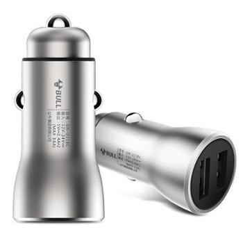 公牛BULLGN-U118C双USB金属多功能汽车一拖二插座