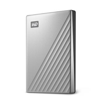 西部数据1TBType-C移动硬盘MyPassportUltra2.5英寸银色(密码保护自动备份)WDBC3C0010BSL