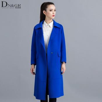 dngr秋冬欧美风修身长款双面羊绒大衣C16022