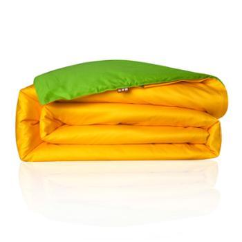 科罗娜家纺床上用品素色双拼全棉活性印花纯棉纯色被套被罩单人单件双人