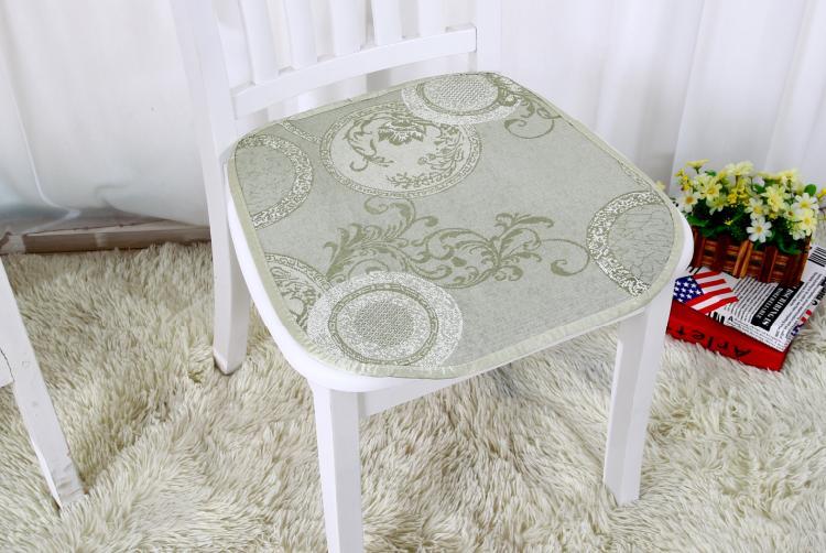 小艾冰丝凉席椅垫夏凉垫藤竹席真皮沙发坐垫子防滑有绑带