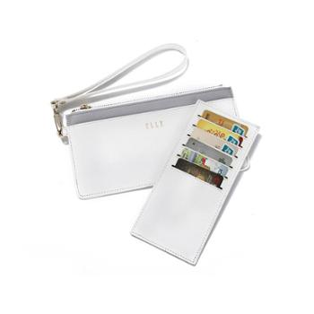 ELLE(她)长款便携卡包/手拿包90010白色