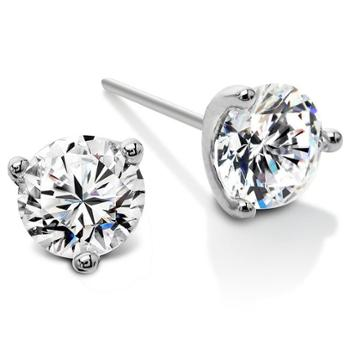 静风格钻石花925银耳针锆石耳钉防过敏B1507020