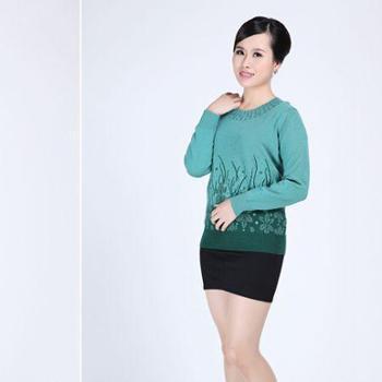 2014年女士多色羊毛衫羊毛羊绒衫