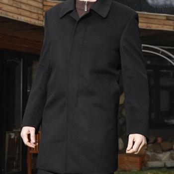 圣巴奈特新款时尚高档商务休闲羊绒外套A1111款