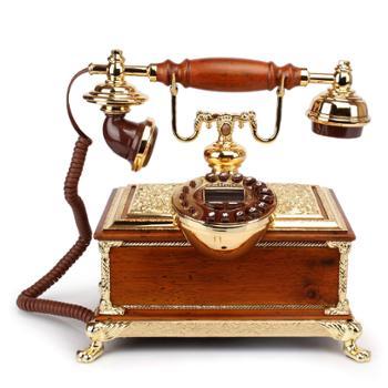 礼之源皇室古典电话机 实木豪华别墅装饰仿古电话机 欧式办公座机