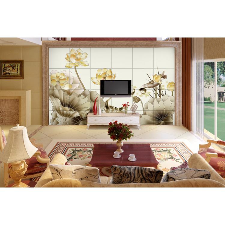 瓷砖背景墙 客厅电视背景墙瓷砖壁画 文化石仿古砖 水墨 北京 天津