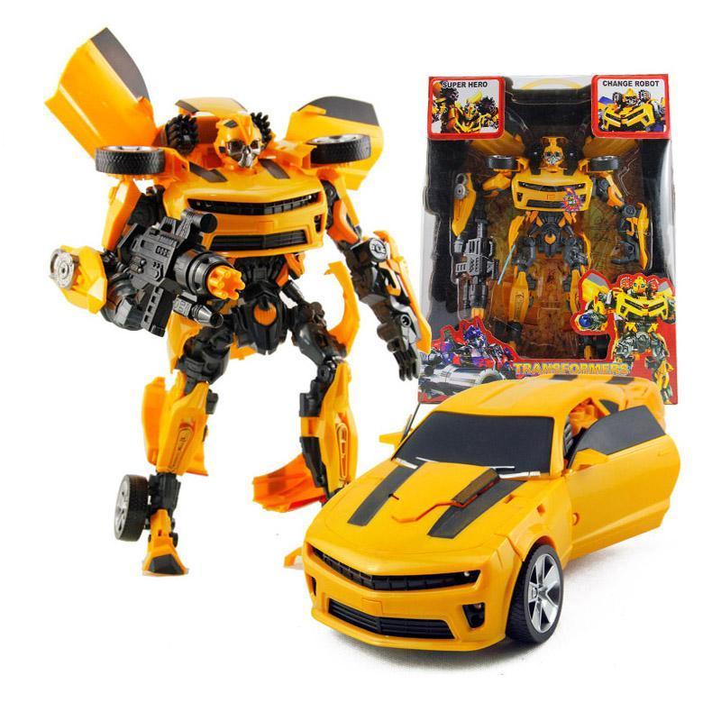变形金刚玩具大黄蜂汽车擎天柱模型机器人拼装组合