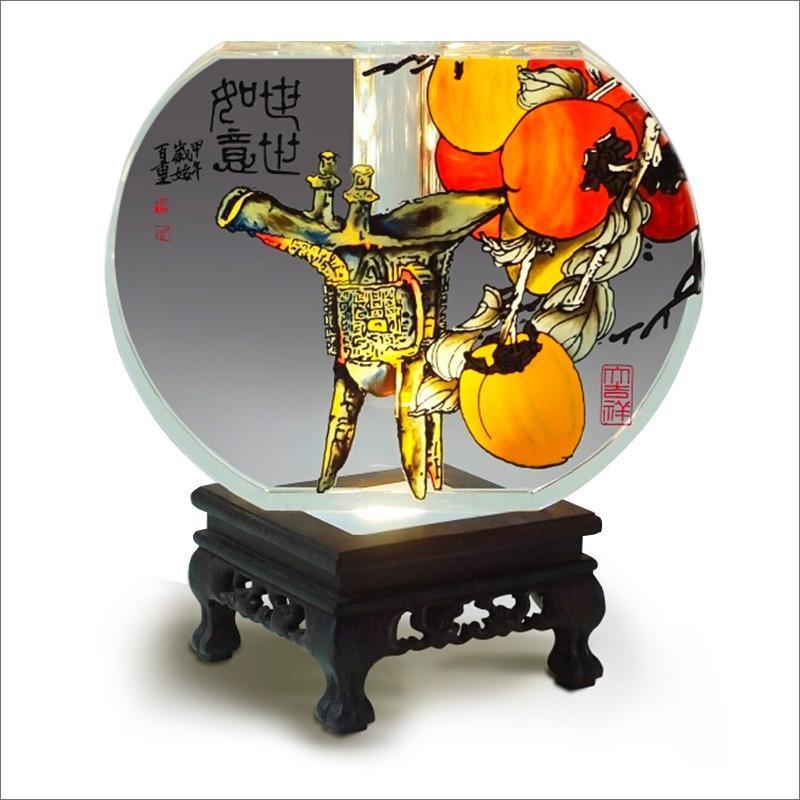 意大号水晶半圆花瓶 水晶玻璃 中国传统 手