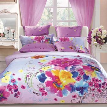 【情人恰恰 厂家直销】活性印花 床上用品四件套 1.5米床用 适合200cm*230cm被子