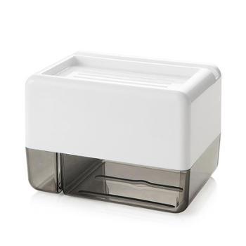 梦妮卫生间纸巾盒免打孔防水亚克力抽纸盒可放置垃圾袋