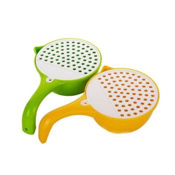 多用刨瓢塑料水瓢勺子多功能手动食物研磨器