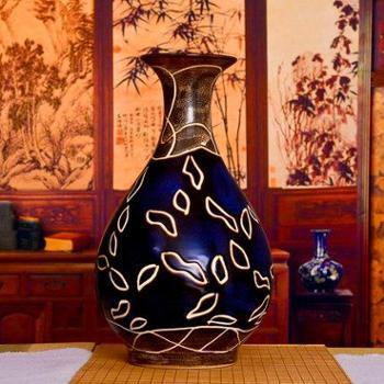 hc-052欢畅景德镇景泰蓝花瓶花插古典中式家居装饰陶瓷工艺摆件