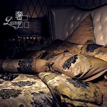 520家纺 奢华床上用品 高档家纺纯棉套件十件套 金色十件套 ROYAL
