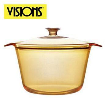康宁/VISIONS 美国进口晶彩透明锅 汤锅 养生锅 燃气明火直烧 VS-3.8 3.8L