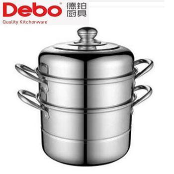 德铂/debo 菲尔不锈钢双层蒸锅 二层蒸笼 电磁炉明火通用 DEP-239 26cm