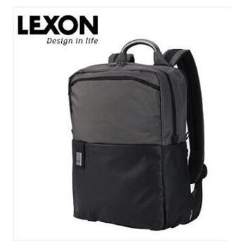 法国乐上(LEXON)电脑包男女款商务14英寸笔记本双肩包时尚潮流休闲背包双色拼接LNR1714颜色随机