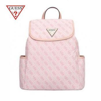 GUESS女士PVC旅行时尚字母印花翻盖双肩背包GSBU6296402PIN