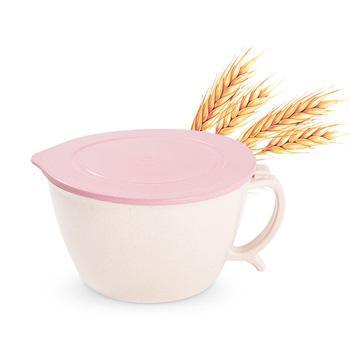 依蔓特 2250 泡面碗日式方便面碗大容量泡面碗 带盖大号有柄防烫带手机架