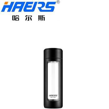 哈尔斯 耐摔便携带过滤网玻璃杯 颜色随机发货 340ML LBL-340-93