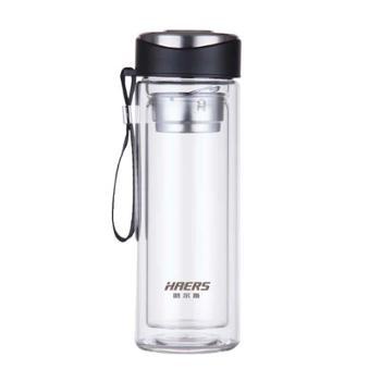 哈尔斯 致尚吊带双层隔热玻璃杯 320ML HBL-320-91